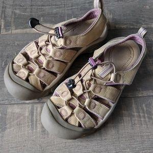 Keen Women's Newport Tan Purple Washable Sandals